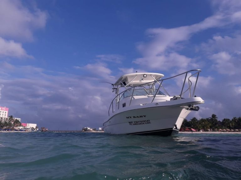 My Baby Fishing Boat in Cancun